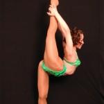 Sexy gymnastics positions
